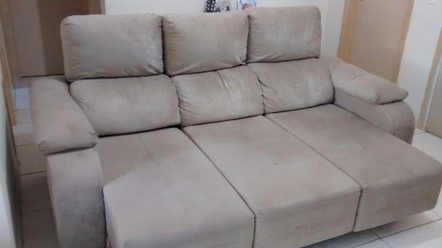Sofa retratil 2 lugares muito confortavel r vazlon brasil for Sofa 03 lugares retratil