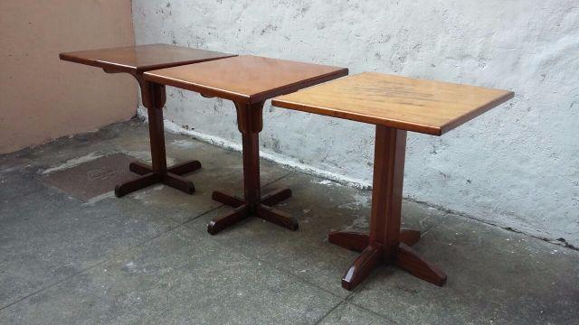 Lote de 5 mesas usadas em bom estado vazlon brasil for Mesas para restaurante usadas