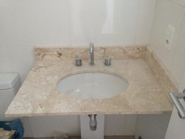 pia de banheiro de marmore travertino r  Vazlon Brasil -> Cuba Banheiro Travertino