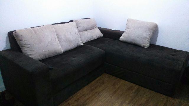 Sofa de canto 5 lugares almofadas vazlon brasil for Sofa 5 lugares canto
