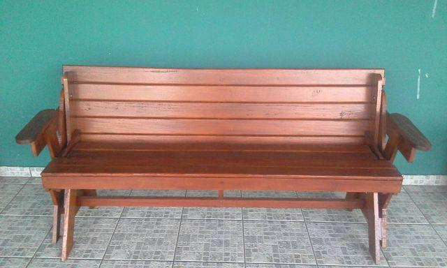 banco de jardim mesa:banco de jardim vira mesa com dois bancos banco de jardim para 3 4