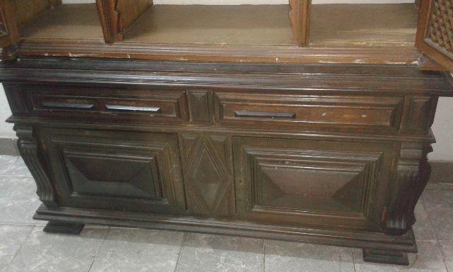 Arame Artesanato Colorido ~ buffet antigo madeira escura Vazlon Brasil