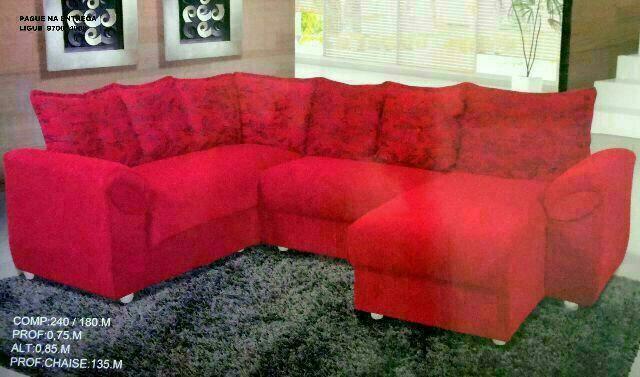Sofa de canto direto do fabricante vazlon brasil for Sofa 03 lugares com chaise