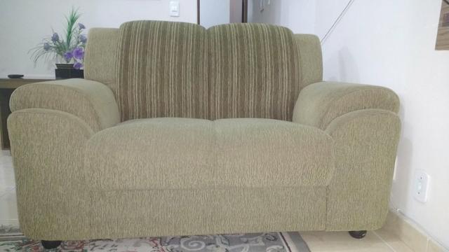 Sofa de 2 a 3 lugares de otima qualidade forracao nova for Sofa 03 lugares com chaise