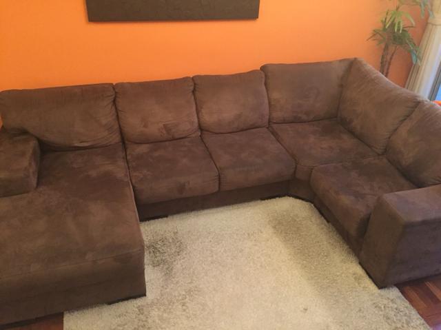 Conjunto de sofa hawai de canto com chaise vazlon brasil for Sofa 5 lugares com chaise