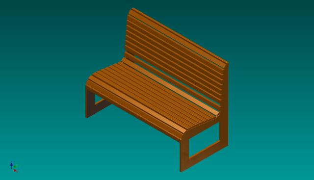 banco de jardim cavalo:bancos de jardim em madeira projeto em 3d de banco para jardim