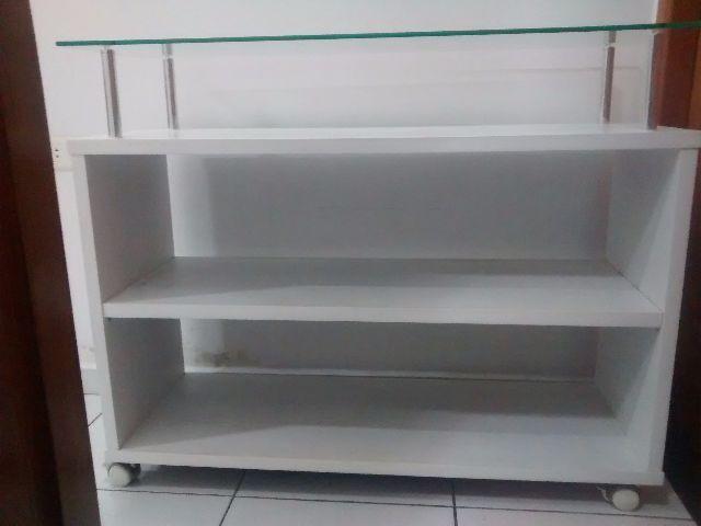 Aparador Sofa ~ aparador branco em madeira com tampo de vidro Vazlon Brasil