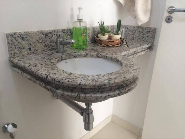 pia de granito com cuba e torneira novas  Vazlon Brasil -> Cuba Pia Banheiro Granito