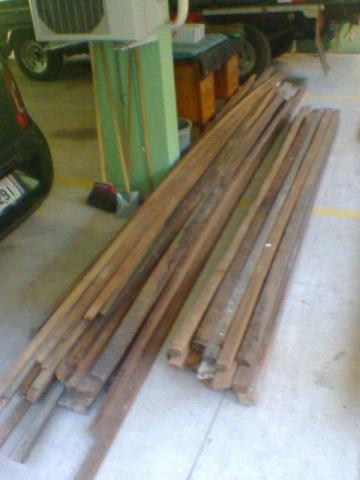 Ripa de madeira para telhado