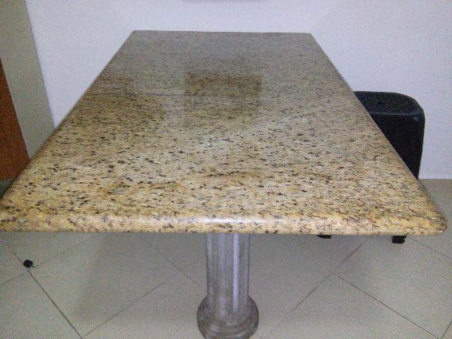Mesa de jantar com 6 lugares com pes de granito vazlon - Mesa de granito ...