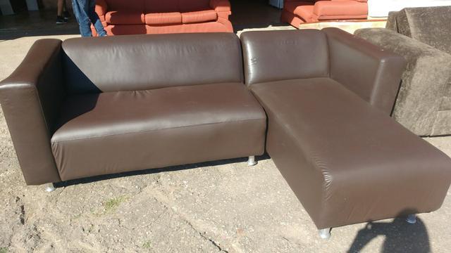 Sofa studio finest corino 3 lugares com chaise rasgo em um for Sofa 03 lugares com chaise