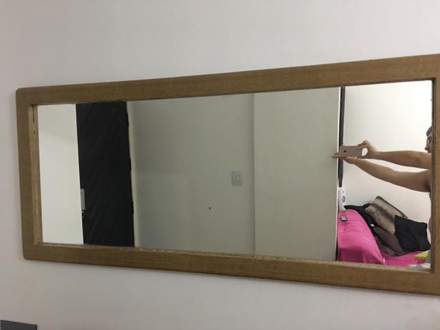 Armario Modulado Banheiro ~ aparador com espelho em madeira macica Vazlon Brasil