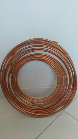 Tubo de cobre rolo c metros menor preco do brasil vazlon - Tubo de cobre para gas ...