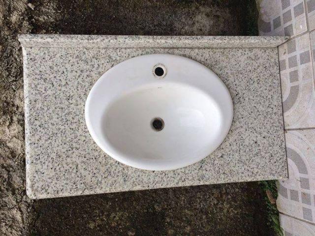 tampo granito cuba p banheiro xcm  Vazlon Brasil -> Tampo E Cuba Para Banheiro