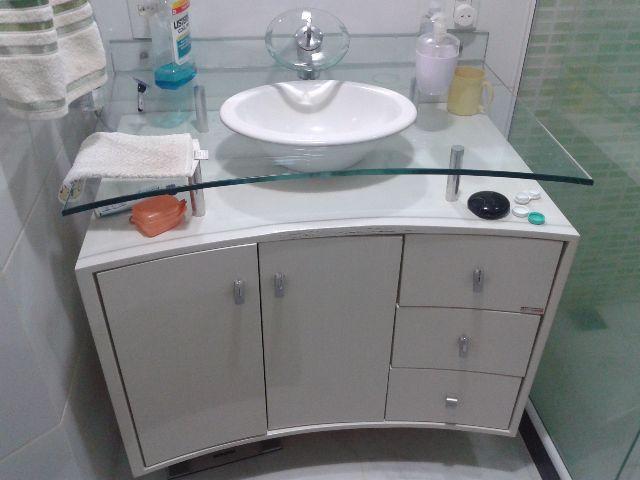 gabinete para banheiro com cuba de vidro  Vazlon Brasil -> Gabinete Para Banheiro Com Cuba Externa
