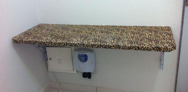 Mesa Fixa Parede ~ mesa de carretel de madeira revestida c tecido Vazlon Brasil