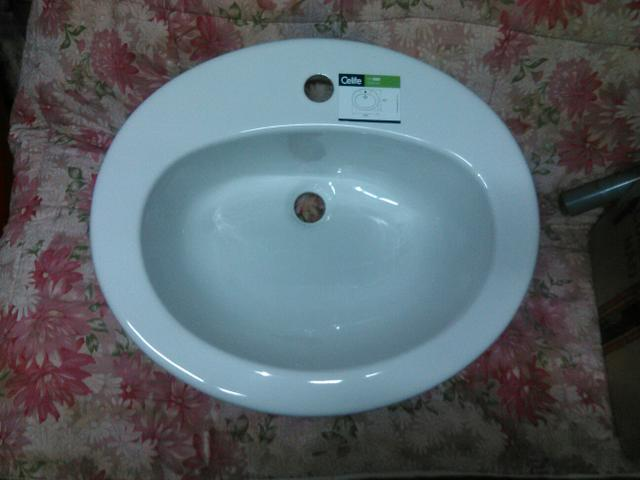 pia de banheiro branca da celite com sifao acessorios e  Vazlon Brasil # Cuba Para Banheiro Celite