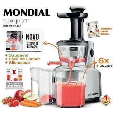 slow juicer premium mondial vazlon Brasil