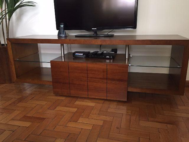 Armario Empotrado Sinonimos ~ rack de madeira imbuia mel Vazlon Brasil