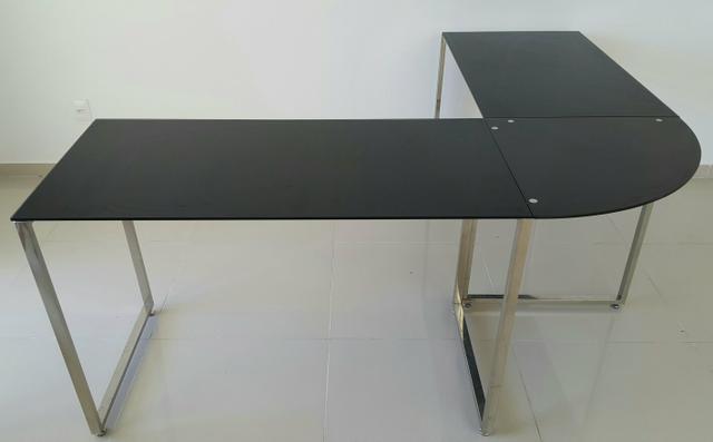 Aparador Para Tampo De Vidro ~ mesa de vidro preta e aparador preto tok stok Vazlon Brasil