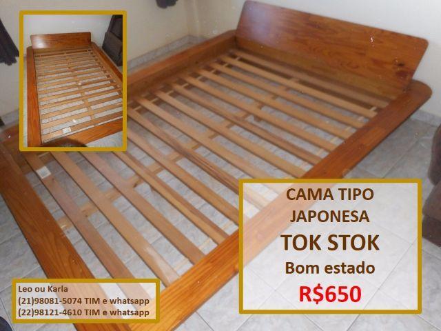 Cama casal twiggy tok stok estilo japonesa vazlon brasil for Cama tipo japonesa