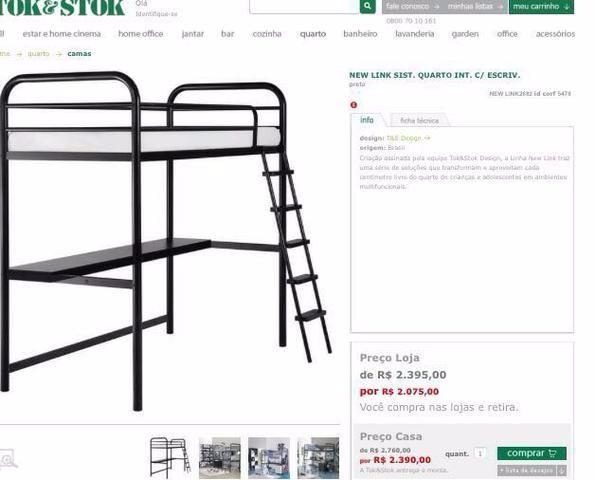 Beliche Tok Stok ~ beliche em aco com escrivaninha e cama solteiro tok stok Vazlon Brasil