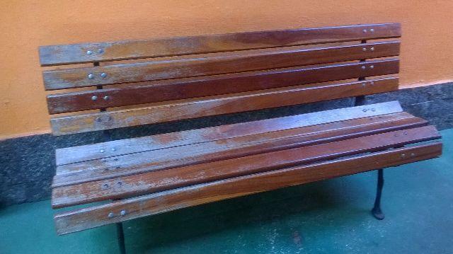 banco de jardim cavalo:banco de jardim 9 réguas pé em ferro fundido vendo banco de jardim s