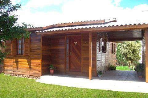 Casa de madeira eucalipto