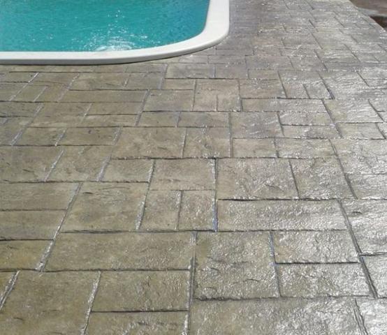 Tech stone techstone piso em concreto estampado vazlon for Cemento estampado fotos
