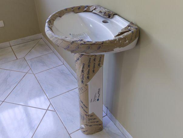 conjunto pia coluna deca para banheiro novo  Vazlon Brasil -> Pia De Banheiro Com Coluna
