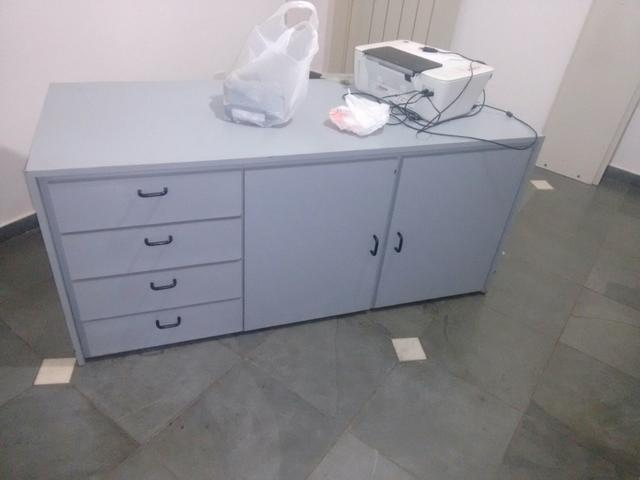 Artesanato Simples ~ armario para escritorio baixo 2 portas de madeira Vazlon Brasil