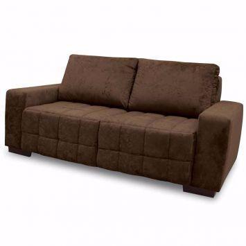 Sofa cor grafite confortavel para assistir tv com r vazlon brasil - Sofa para tres ...