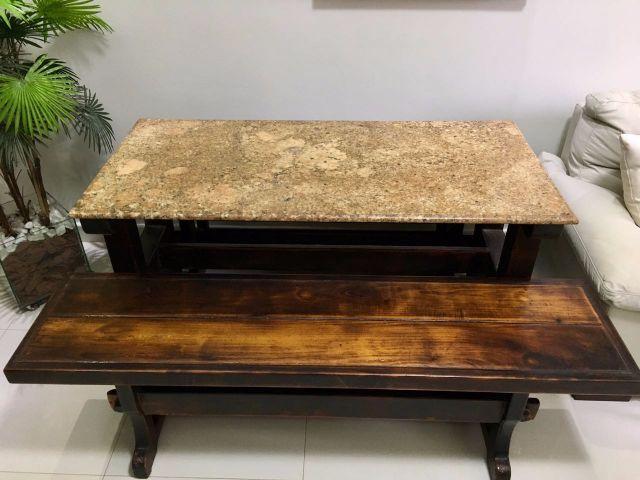 Mesa de granito com 4 bancos vazlon brasil for Bancos de granito para jardin