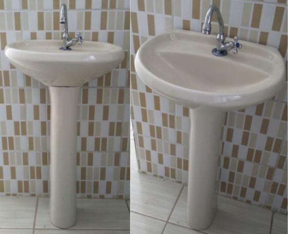 gabinete banheiro tok stok encaixe para sifao  Vazlon Brasil -> Cuba Pia Banheiro Deca