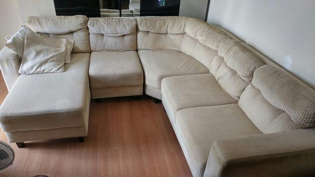 Estofado de canto munique 4 lugares chaise marrom hellen for Sofa 03 lugares com chaise