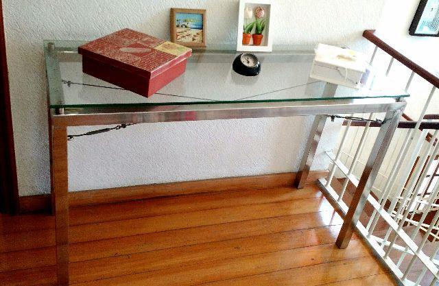 Armarinhos Barros Artesanato ~ aparador em metal envelhecido com tampo em vidro Vazlon Brasil