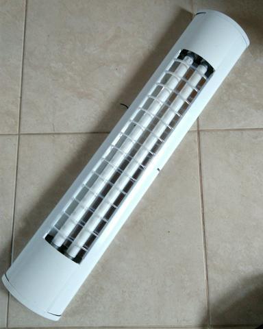 Luminaria com reator e 2 lampadas fluorescente vazlon brasil - Luminaria fluorescente estanca ...