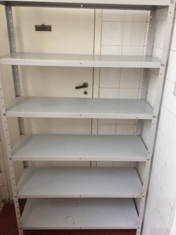 2 estantes de metal quatro compartimento vazlon brasil - Estantes de metal ...