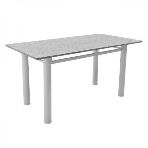 Mesa em granito branca com 4 cadeiras vazlon brasil - Mesa de granito ...