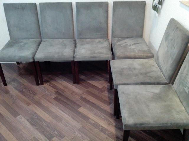 para sala de jantar jogo com 6 cadeiras de suede cinza cadeiras usadas