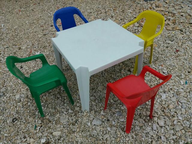Conjunto infantil de mesa e cadeira em resina vazlon brasil - Mesa resina infantil ...