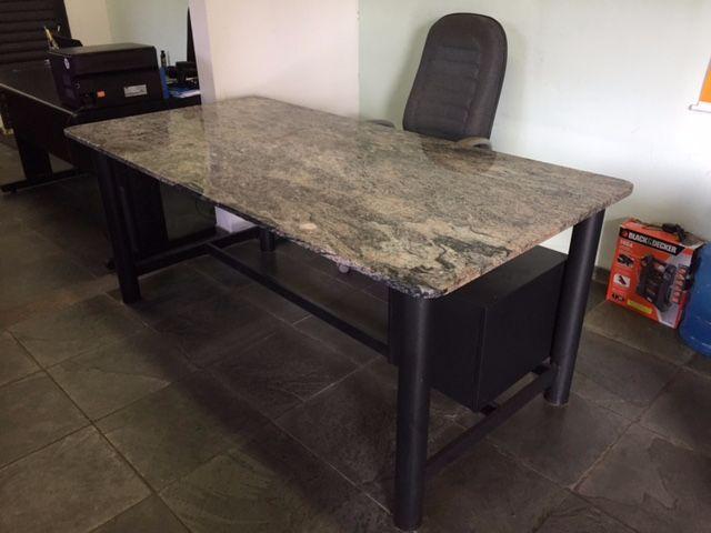 Mesa de escritorio ilha cadeira executiva vazlon brasil - Mesa de granito ...