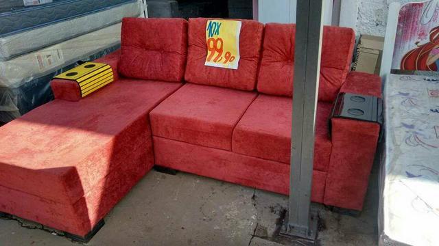 Sofa milao 4 lugares com chaise puff vazlon brasil for Sofa 03 lugares com chaise