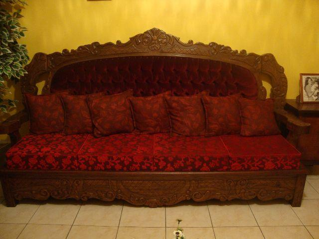 Lindo sofa de 3 lugares mod colonial em veludo vazlon brasil - Sofas estilo colonial ...