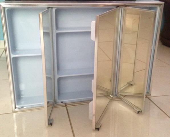 armario crismetal aluminio sobrepor 1 porta x cm  Vazlon Brasil -> Armario De Banheiro Crismetal