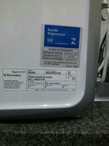 Purificador de água electrolux pe11x prata com painel touch