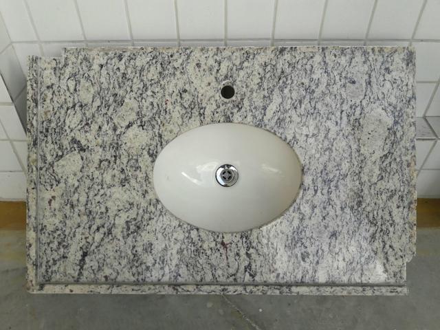 pia de granito para banheiro com cuba celite  Vazlon Brasil -> Pia De Banheiro Celite