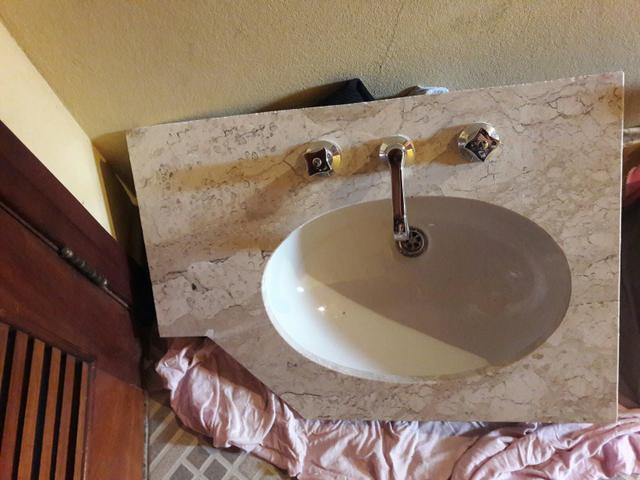 pia de granito para banheiro com cuba celite  Vazlon Brasil -> Pia Para Banheiro Celite