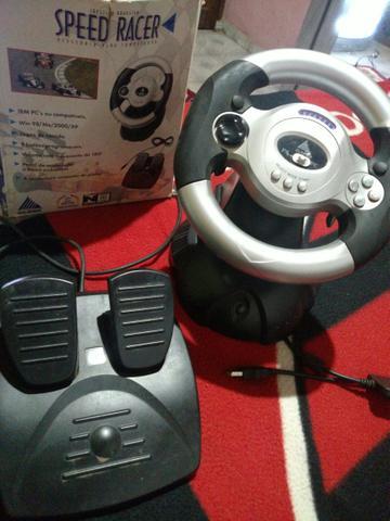 joystick volante speed racer lifetech usb ps2 ps3 novo | Vazlon Brasil