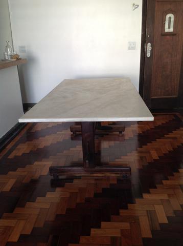 Mesa de jantar tronco de jacaranda com tampo de cristal for Mesa cristal oca